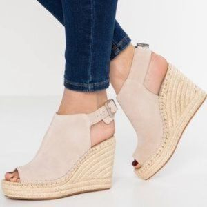 Kenneth Cole Odette Suede Open Toe Espadrille 9.5